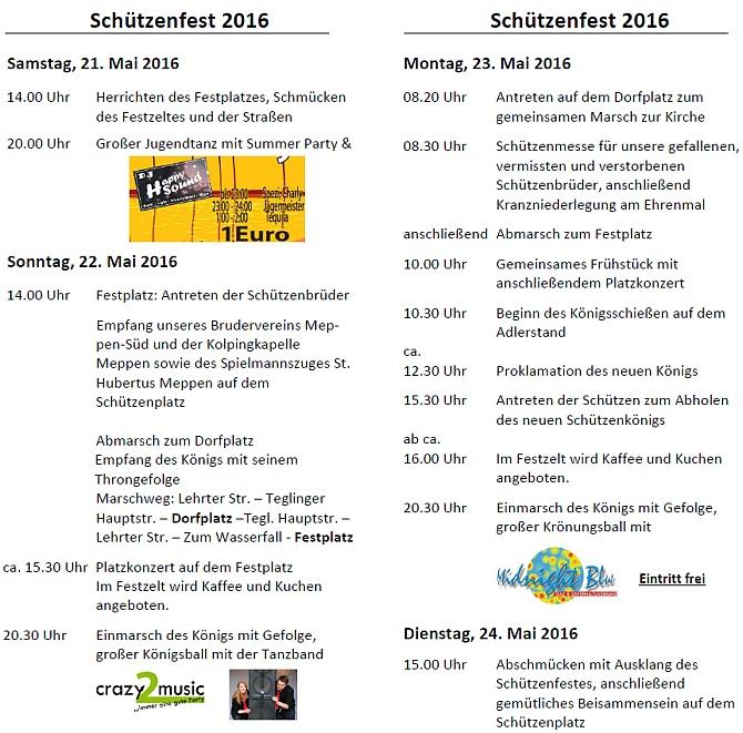 Flyer Festprogramm 2016