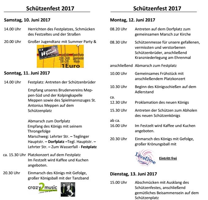 Flyer Festprogramm 2017