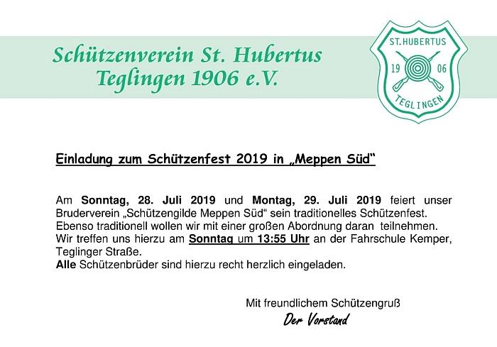 Schützenfest Meppen-Süd 2019